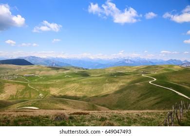 lessinia panorama in veneto alps