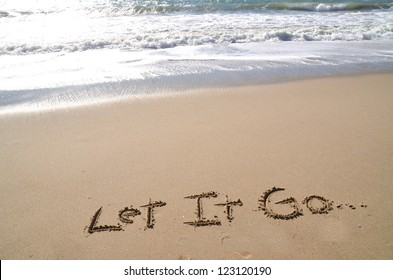 Let it go, a message in the sand