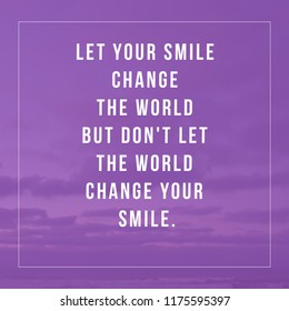 Quotes Smile Stock Photos Images Photography Shutterstock