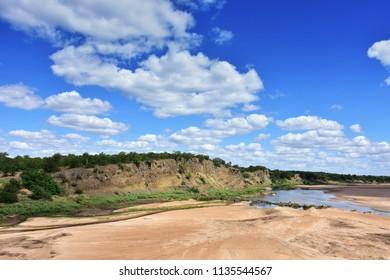 Letaba river in Kruger National park in South Africa