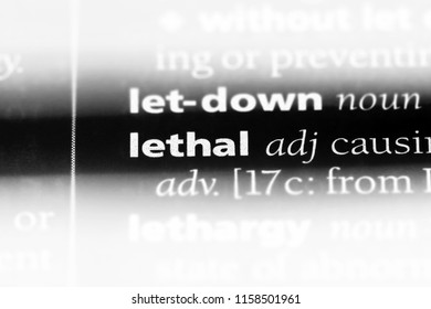 lethal word in a dictionary. lethal concept.
