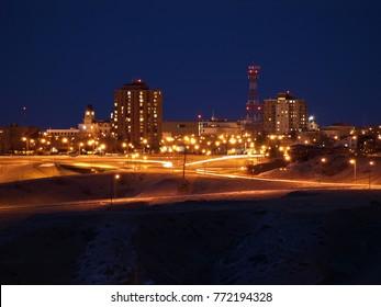 Lethbridge City at night