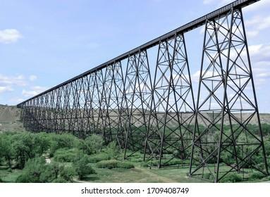 Lethbridge High Level Bridge in Lethbridge, Alberta.