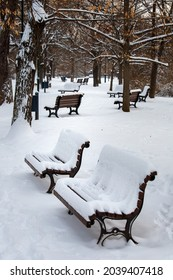 Letna in winter, place to sit - Shutterstock ID 2039407418