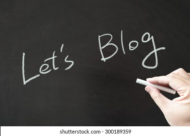 Let's blog words written on blackboard using chalk