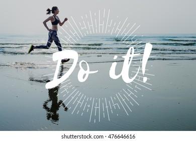 Let's Do This Do It Motivation Encouragement Progress Concept