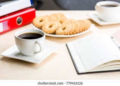 Let's meet in the office with coffee and cookies