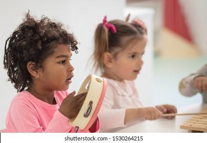 Lets play. Children in preschool.