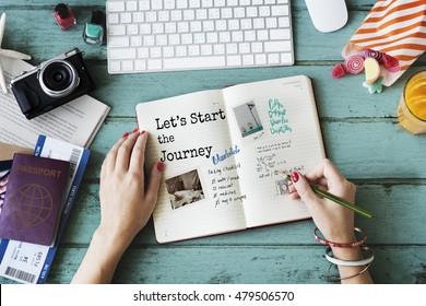 Let's Start The Journey Travel Concept