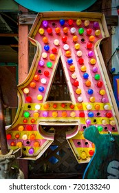The letter 'A' shines proudly in Austin, TX.