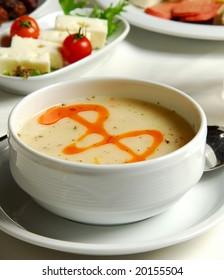 letter B sauce up soup