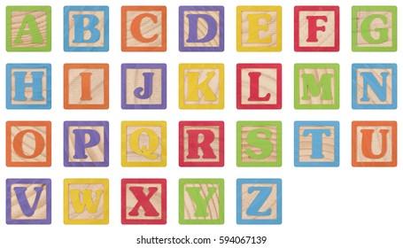 Letter Blocks (UPPERCASE)