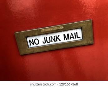 Letter box - No Junk Mail