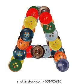letter A buttons alphabet