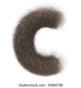 Letter C from fur alphabet