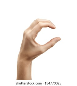 The letter C using American Sign Language