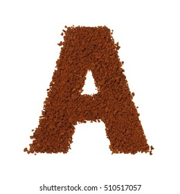letter A coffee alphabet