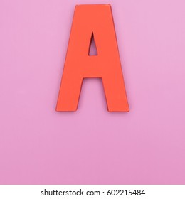 Letter a in color background