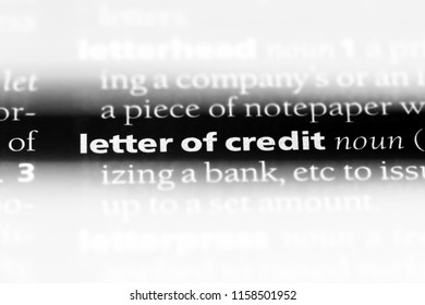 letter of credit word in a dictionary letter of credit concept
