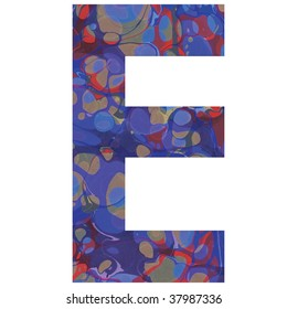 letter E alphabet symbol design