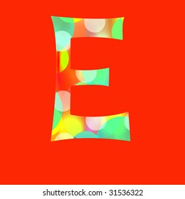 Letter E with paths