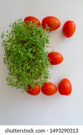 Letter E written with tomato
