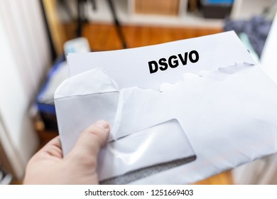 Letter, with envelope, in a Letter to the DSGVO
