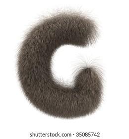 Letter G from fur alphabet