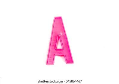 Letter A isolated on white background