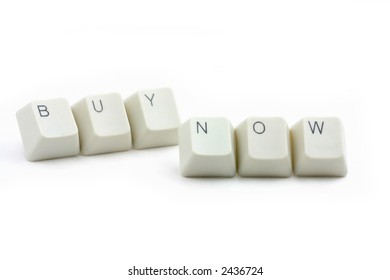 letter keys close up, concept of online shopping