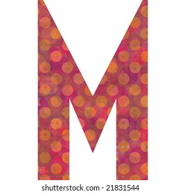 Letter M alphabet symbol illustrated