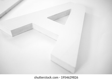 Letter A made from PVC isolated on a white background