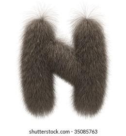 Letter N from fur alphabet