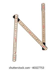 Letter 'N' made of a folding ruler