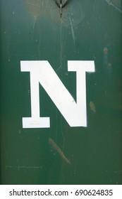 letter N , stencil letter