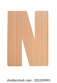 "Letter ""N"" of wood Alphabet"
