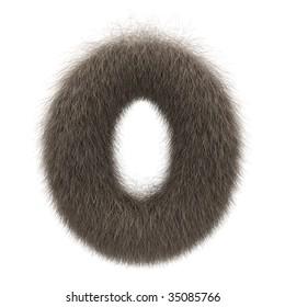 Letter O from fur alphabet