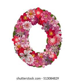 letter O red flowers alphabet