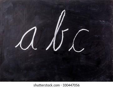letter on blackboard