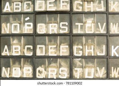 letter organize in container for car plate number