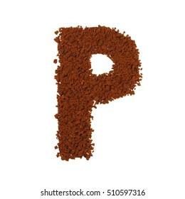 letter P coffee alphabet