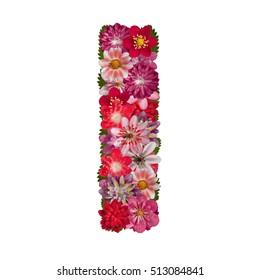 letter I red flowers alphabet