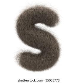 Letter S from fur alphabet