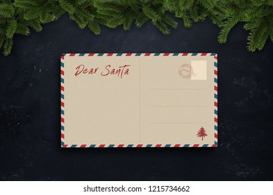 Letter to Santa Claus on the table