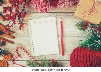 Letter to Santa Claus. Selective focus.