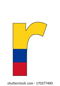 Letter series with flag inside - Colombia