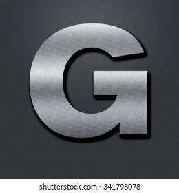 Letter shabby metal chromium. Letter shabby metal G