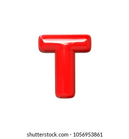 letter T red balloon font