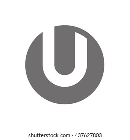 Letter U Logo Concept Icon. illustration