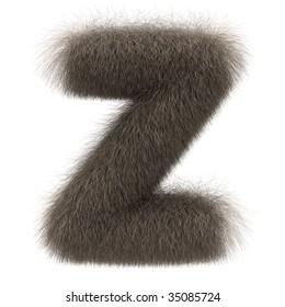 Letter Z from fur alphabet
